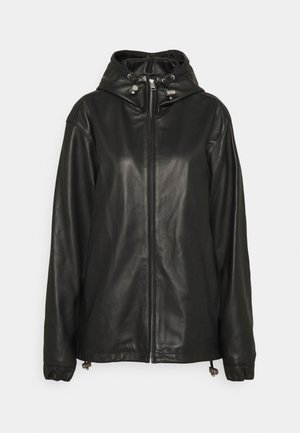 HOOD - Kožená bunda - noir