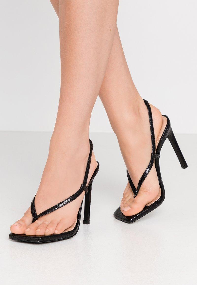 Steve Madden - BASHMENT - High heeled sandals - black