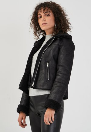 ZWANGS SPIRIT - Leather jacket - noir