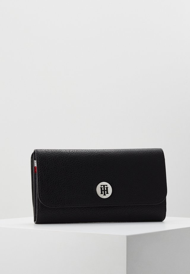CORE LARGE FLAP WALLET - Portefeuille - black