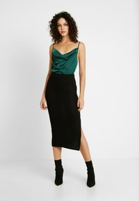 Missguided - COWL NECK BODYSUIT - Top - green - 1
