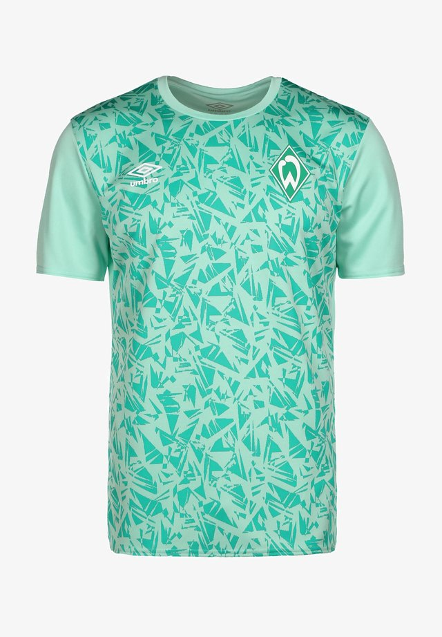 WERDER BREMEN WARM UP - T-shirt sportiva - ice green  spectra green