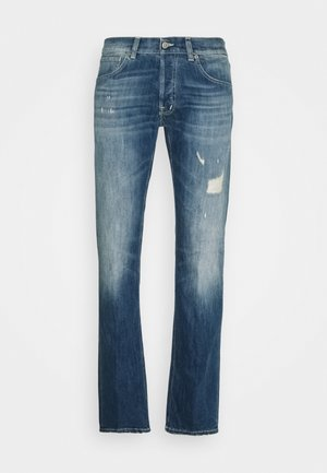 PANTALONE QUENTIN - Džíny Straight Fit - destroyed denim