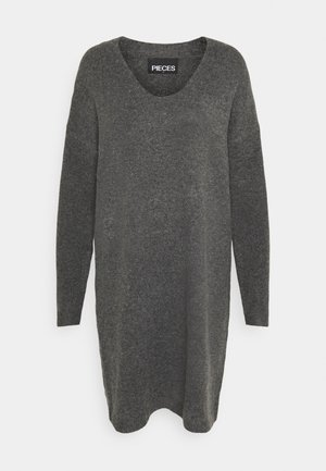 PCSTAR V-NECK - Jumper dress - dark grey melange