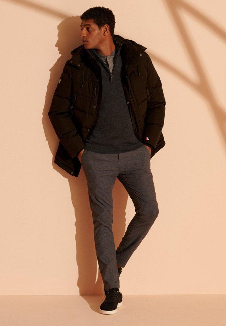 Men MERINO HENLEY - Fleece jumper