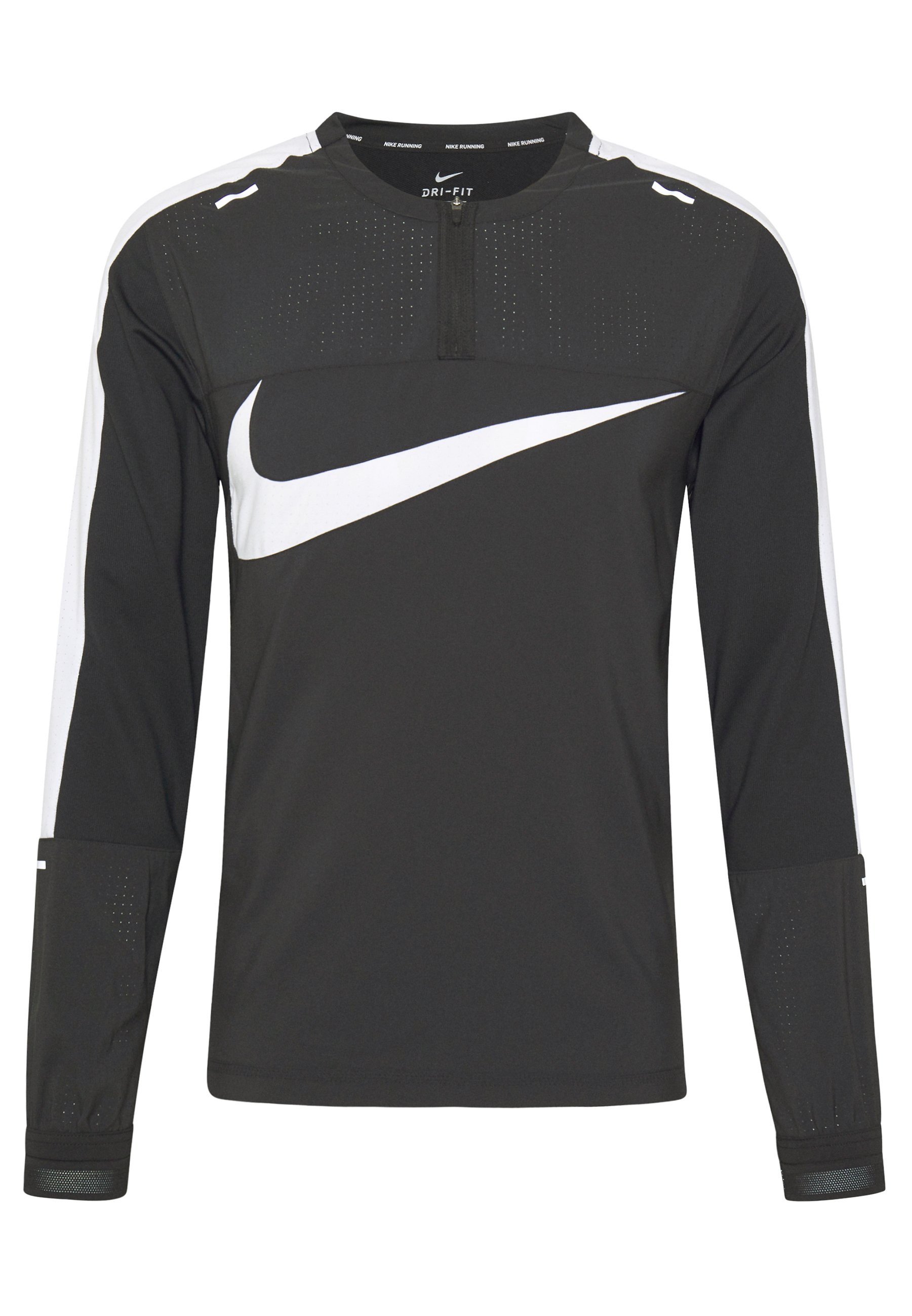 Nike Performance WILD RUN - T-shirt de sport - black/white