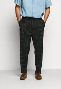 Only & Sons - ONSLINUS LONG CHECK - Pantalones - black - 0