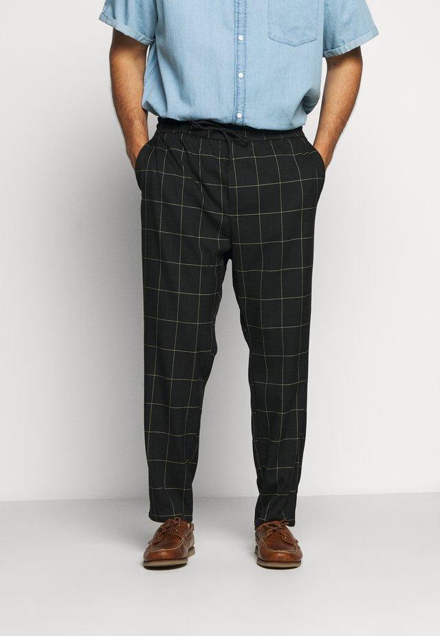 ONSLINUS LONG CHECK - Trousers - black