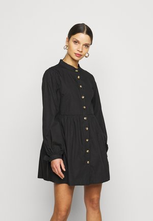 TIE CUFF SHIRT DRESS  - Robe chemise - black