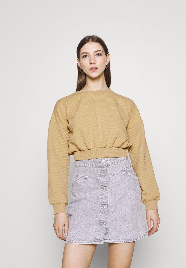 QUILT ELASTIC  - Sweater - stone