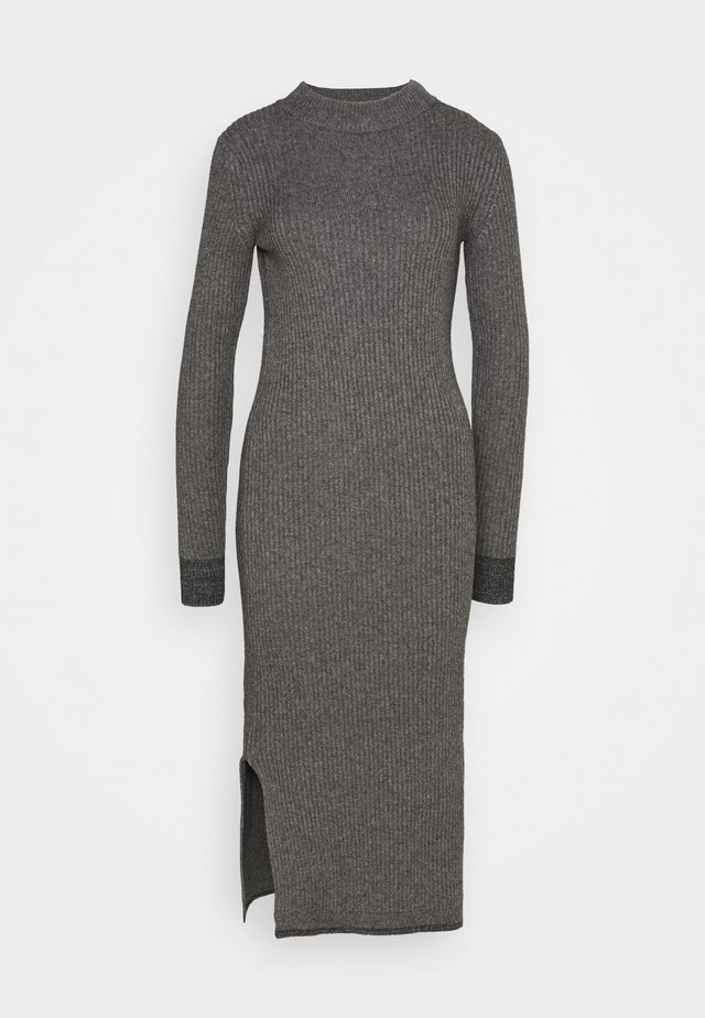 ROLL NECK MIDI DRESS - Neulemekko - mid grey heather