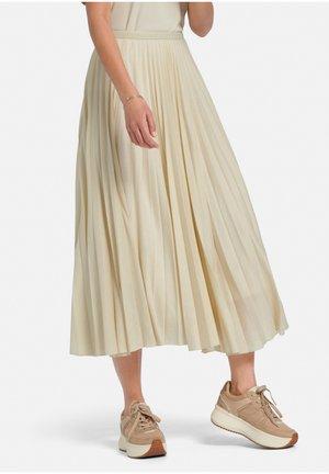 MAXIROCK PLISEE-ROCK - Maxi skirt - beige