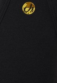 Deha - KNOT CROP - Sports shirt - black - 2