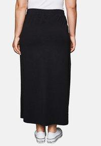 Sheego - Maxi skirt - black - 1