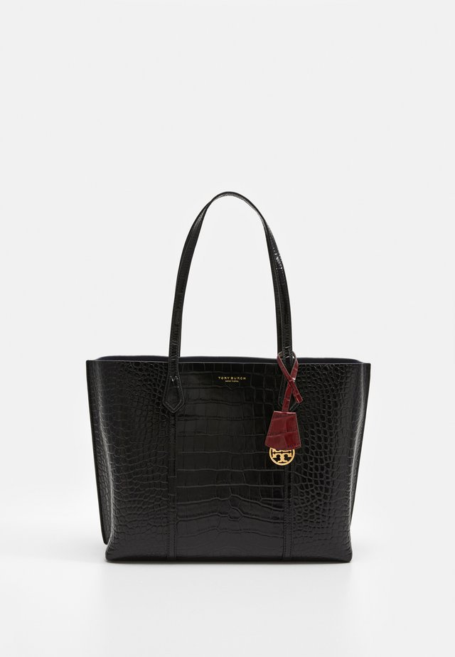 PERRY EMBOSSED TRIPLE COMPARTMENT - Tote bag - black