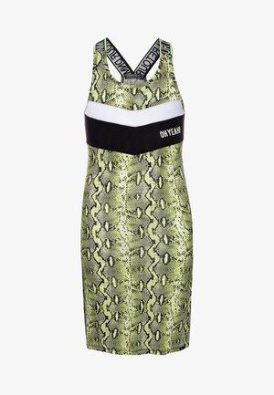 JEWEL - Žerzejové šaty - neon yellow