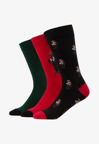 Polo Ralph Lauren - COCOA BEAR 3 PACK - Chaussettes - red/green/black - 1