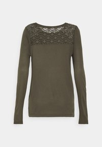 ONLY Tall - ONLNICOLE LIFE NEW MIX - Long sleeved top - dark green - 1