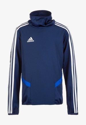 Tiro 19 Warm Top - Sweatshirt - dark blue / bold blue / white
