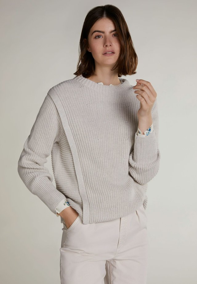 IN SPORTIVEM SCHNITT - Long sleeved top - offwhite melange