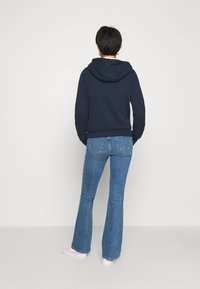 Abercrombie & Fitch - FULL ZIP - Zip-up hoodie - navy - 2