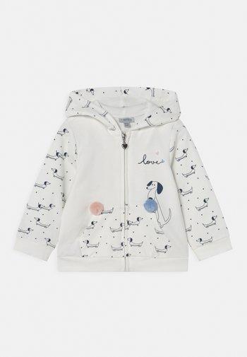 FULL ZIP HOOD - Zip-up sweatshirt - bright white