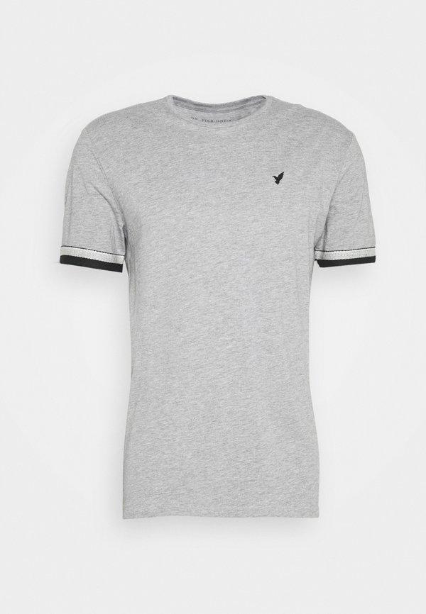 Pier One T-shirt z nadrukiem - grey/szary Odzież Męska TCWF