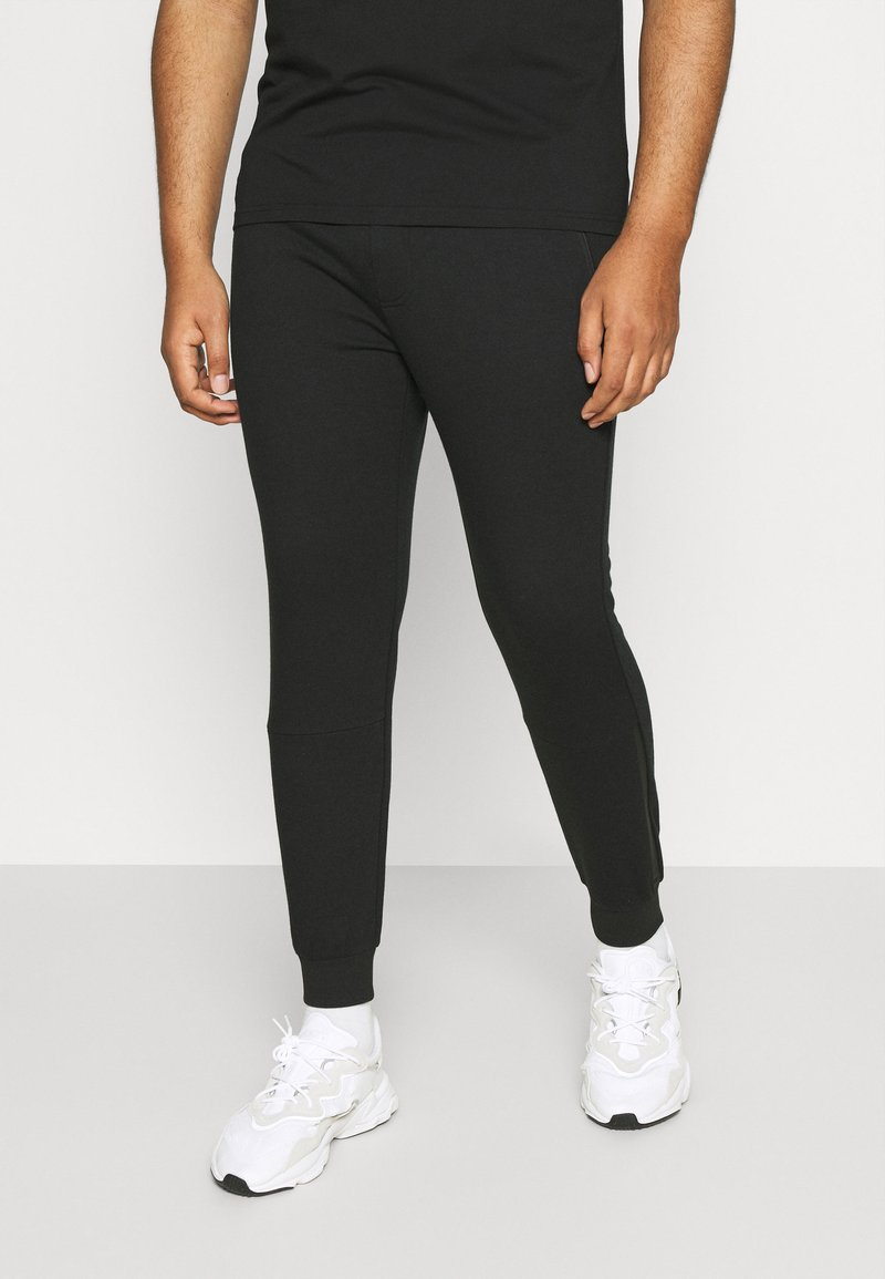 Johnny Bigg - TROY CUFF TRACKPANT - Tracksuit bottoms - black
