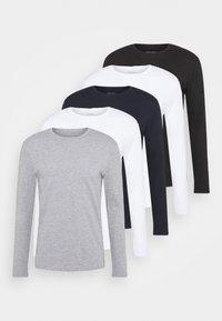 5 PACK - Long sleeved top - white/dark blu/grey