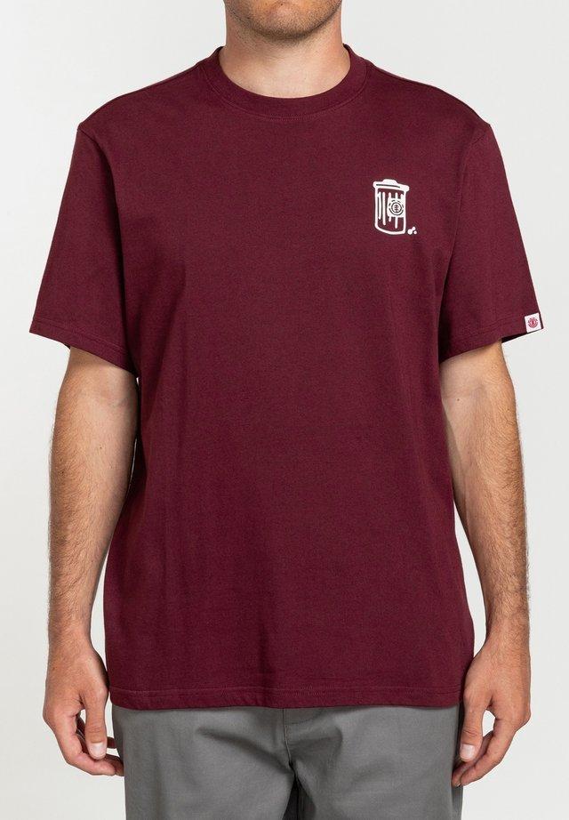 T-shirt med print - vintage red