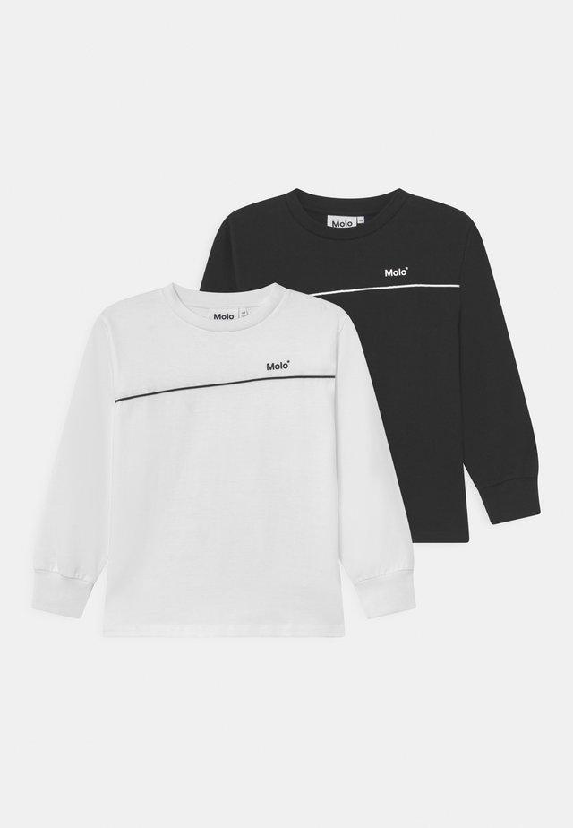 RASMONO 2 PACK - Long sleeved top - white/black