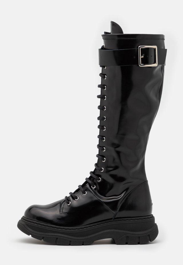 Platform-saappaat - black