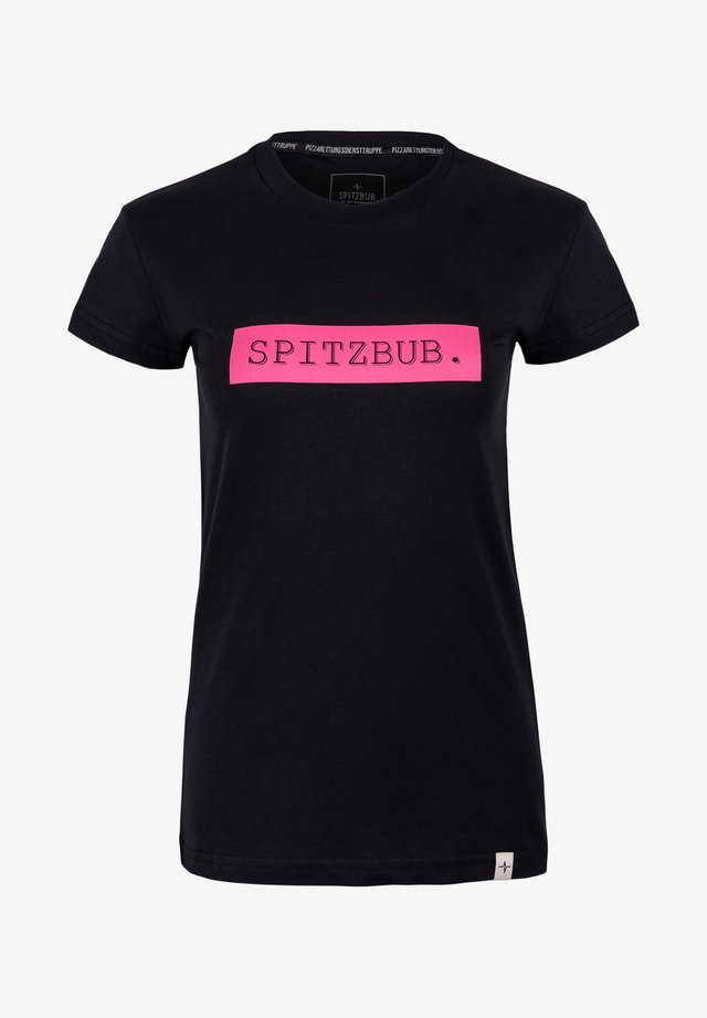 MARTINA - Print T-shirt - black