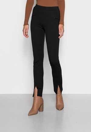TREGGING PUNTO FRONT SPLIT - Leggings - Trousers - black