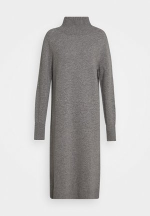 WOMEN´S DRESS - Abito in maglia - grey heather melange