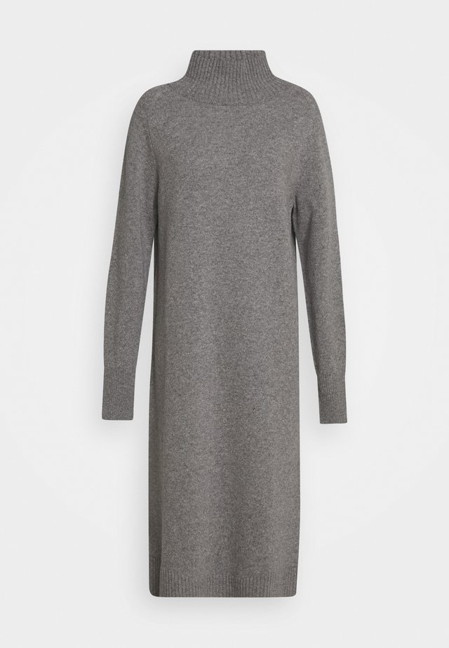 WOMEN´S DRESS - Vestido de punto - grey heather melange