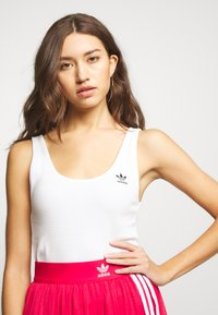 adidas Originals - ADICOLOR TREFOIL TANK - Top - white/black - 4