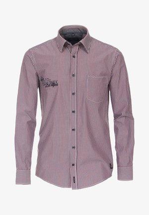 GESTREIFT - Formal shirt - mittelrot