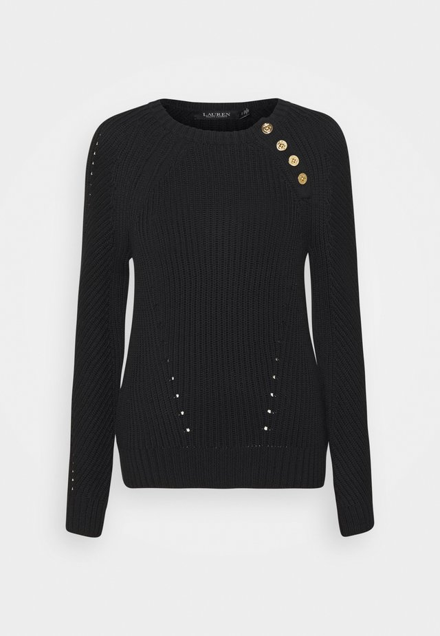 Sweter - polo black