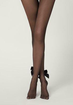 AUS TÜLL MIT SAMTSCHLEIFE - Leggings - Stockings - schwarz - black bow