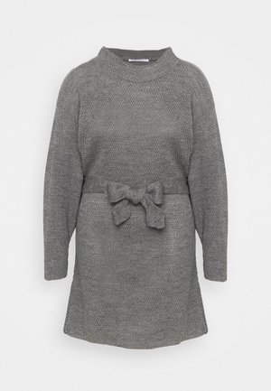 BELTED DRESS - Jumper dress - dark grey
