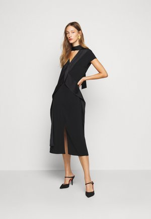 DIAMOND DRAPE DRESS - Koktejlové šaty / šaty na párty - black