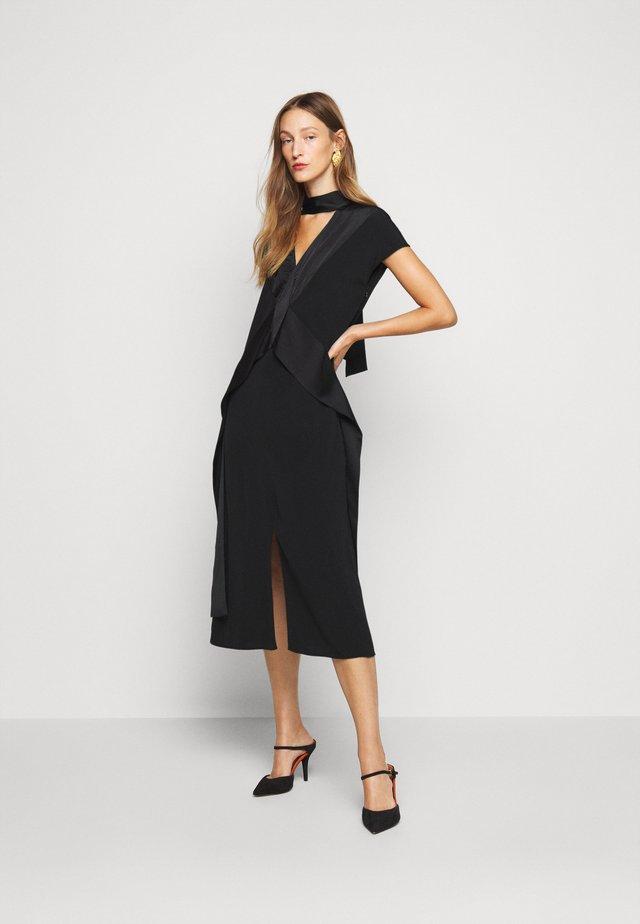 DIAMOND DRAPE DRESS - Robe de soirée - black