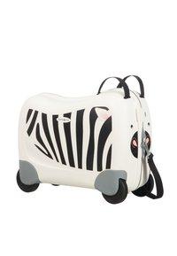 Samsonite - ZUM DRAUFSITZEN - Wheeled suitcase - off-white/black - 2