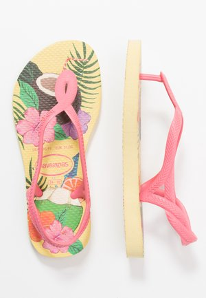 KIDS LUNA PRINT - Pool shoes - lemon yellow
