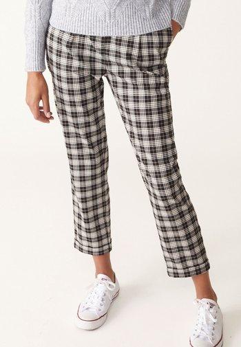 CHECK - Pantalon classique - brown/beige