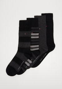 Tommy Hilfiger - SOCK STRIPE GIFTBOX 4 PACK - Socks - black - 0