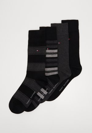 SOCK STRIPE GIFTBOX 4 PACK - Strumpor - black