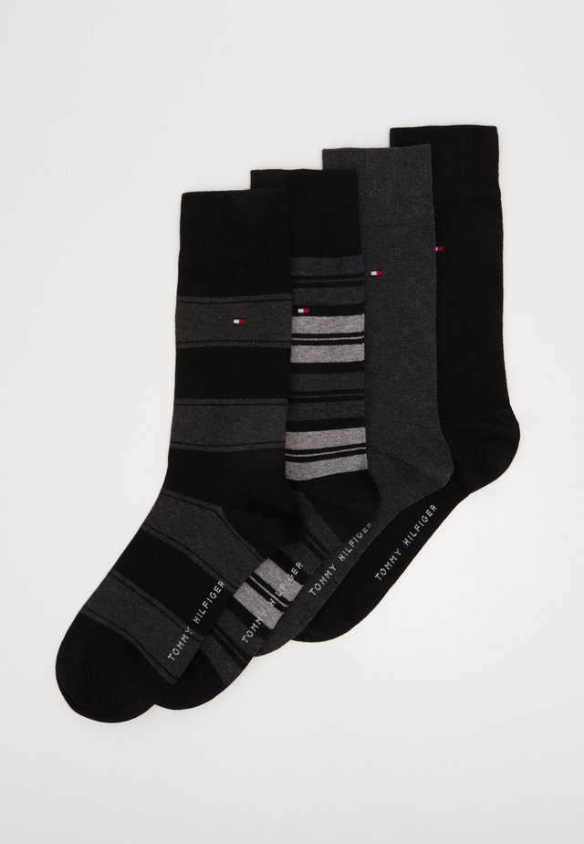 SOCK STRIPE GIFTBOX 4 PACK - Skarpety - black
