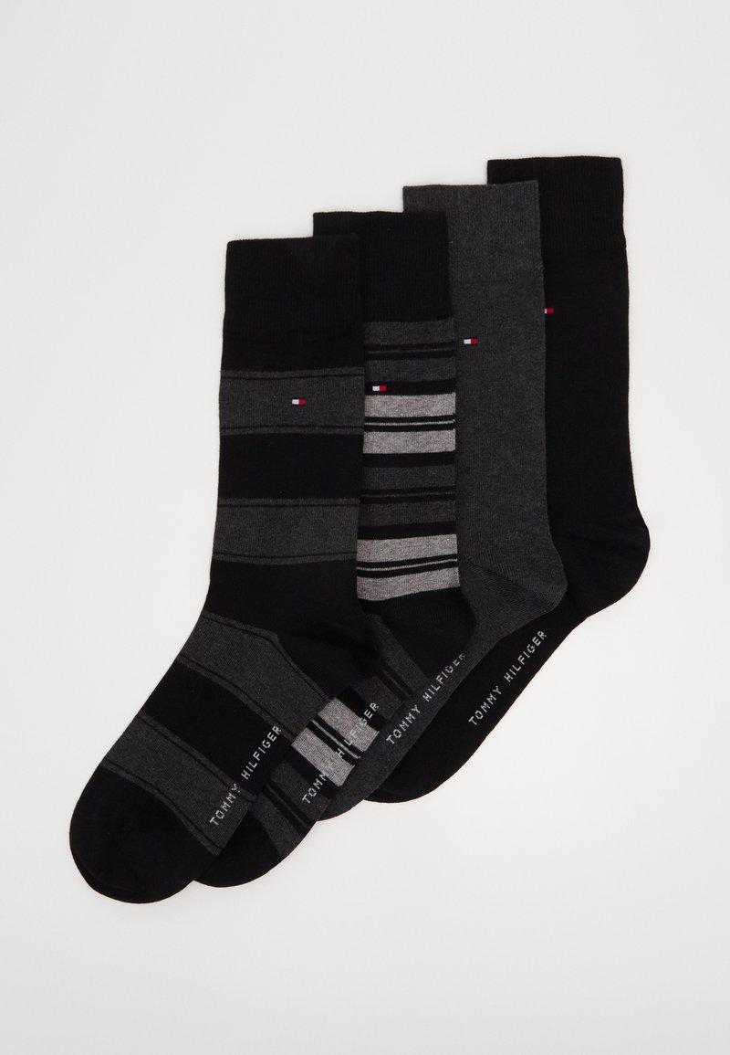 Tommy Hilfiger - SOCK STRIPE GIFTBOX 4 PACK - Socks - black